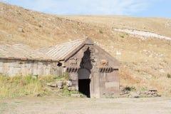Caravanserai in Selim Vardenyats Pass armenië royalty-vrije stock afbeeldingen