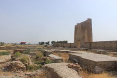 Caravanseray arruinada del camino de seda Imagenes de archivo