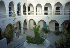 Caravanseray, Houmt Souk, Jerba, Tunesië Royalty-vrije Stock Afbeeldingen