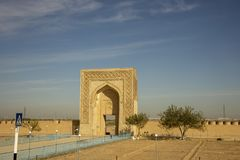 Caravanseria on Silk Road, Uzbekistan royalty free stock photography