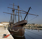 Caravel. Replica of an old Portuguese caravel from the discoveries time Stock Photo