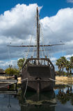 Caravel La Pinta hold and helm Royalty Free Stock Photography