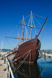 Caravel. La Pinta museum at Baiona, Galicia, Spain Royalty Free Stock Images