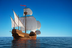 Caravel In The Ocean Stock Photography