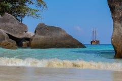 Caravel on the Similan island, Thailand Stock Photos