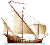 Caravel, um navio de navigação Fotografia de Stock