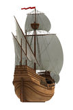 Caravel On White Background Royalty Free Stock Image