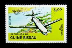 Caravelle, 40η επέτειος της πολιτικής αεροπορίας serie, circa 1984 Στοκ Εικόνα
