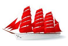 caravelred seglar shipen Royaltyfri Fotografi