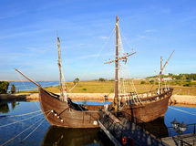 Caravels av Christopher Columbus, La Rabida, Huelva landskap, Spanien Royaltyfri Bild