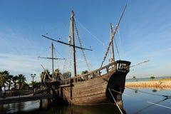 Caravels Christopher Columbus, Ла Rabida, провинции Уэльвы, Испании стоковая фотография