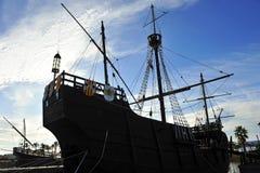 Caravels of Christopher Columbus, La Rabida, Huelva province, Spain Royalty Free Stock Photography