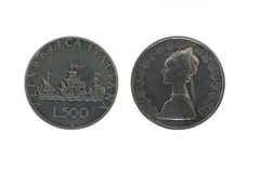 Caravels silver coins 2 Royalty Free Stock Images