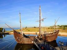 Caravels von Christopher Columbus, La Rabida, Huelva-Provinz, Spanien Lizenzfreies Stockbild