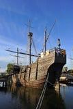 Caravelsna av Christopher Columbus, La Rabida, Huelva landskap, Spanien Arkivfoto