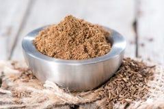 Caraway Powder stock photo