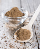 Caraway Powder on a wooden spoon Royalty Free Stock Image