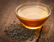 Caraway seeds with essential oil Royalty Free Stock Image