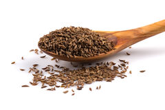 Caraway seeds in spoon Royalty Free Stock Photo