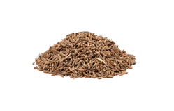 Caraway seeds on white Stock Photography