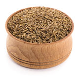 Caraway seeds in a wooden bowl Royalty Free Stock Photography