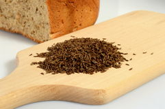 Caraway. On a wooden board Stock Photo