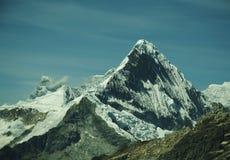 caraz山脉秘鲁山顶 库存照片