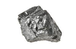 Carbón aislado en blanco foto de archivo