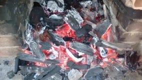 Carbón ardiente Imagenes de archivo