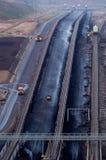 Carbón a cielo abierto fotos de archivo libres de regalías
