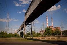 Carbón de la central eléctrica Fotos de archivo libres de regalías