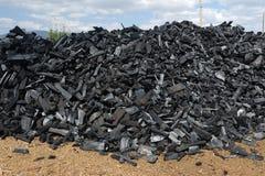 Carbón de leña imágenes de archivo libres de regalías