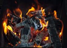 Carbón de leña Fotos de archivo