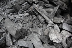 Carbón de leña Imagen de archivo libre de regalías
