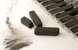 Carbón de leña del artista foto de archivo libre de regalías