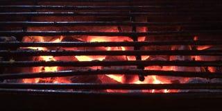 carbón de leña en estufa Fotografía de archivo libre de regalías