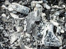 Carbón de leña en la parrilla Imagen de archivo