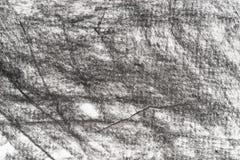 Carbón de leña en textura drowing del fondo del papel Fotos de archivo libres de regalías