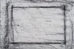 Carbón de leña en textura drowing del fondo del papel Foto de archivo