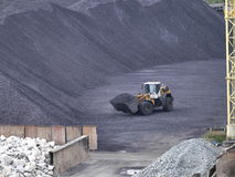 Carbón duro del almacenamiento Foto de archivo libre de regalías