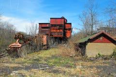 Carbón e instalación de coquefacción abandonados fotos de archivo libres de regalías