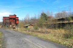Carbón e instalación de coquefacción abandonados Fotografía de archivo