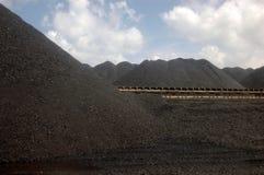 Carbón en central eléctrica imagen de archivo libre de regalías