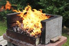 Carbón en el fuego Foto de archivo libre de regalías