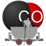 Carbón industry-4 del icono Fotos de archivo libres de regalías