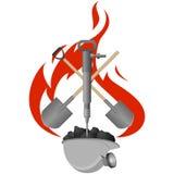 Carbón industry-6 del icono Imágenes de archivo libres de regalías