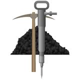 Carbón industry-7 del icono Fotos de archivo libres de regalías