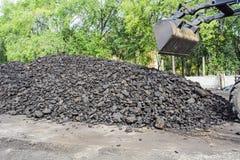 Carbón para el invierno Fotos de archivo