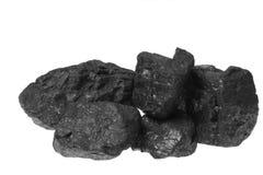Carbón, pepitas del carbón Foto de archivo