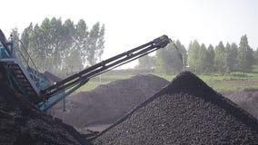 Carbón que clasifica, almacenamiento del carbón almacen de metraje de vídeo